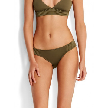 Seafolly Quilted Hipster : Dark Olive