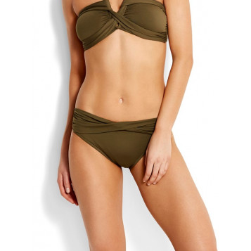Seafolly Twist Band Hipster : Dark Olive