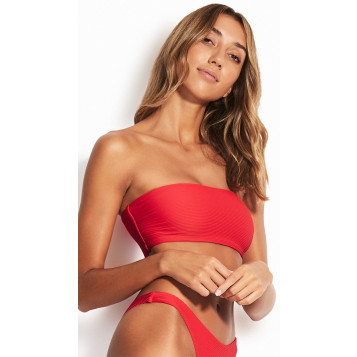 Essentials Tube Top : Chilli