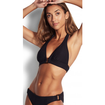 Capri Sea Halter Bra : Black