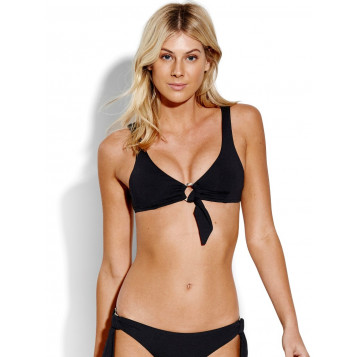 Active Ring Front Bralette : Black