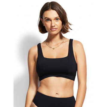Active D Cup Tank Bra : Black