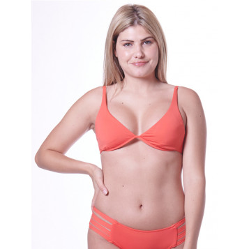 Active Split Wire Bra : Fiesta Coral