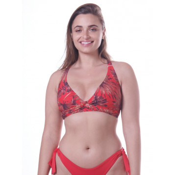 Tahiti DD Double Twist Front Bra : Chilli Red