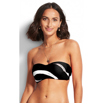 New Wave Bustier Bandeau : Black
